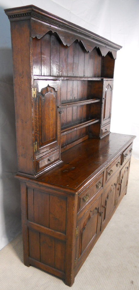Welsh Dresser Large Oak Storage Sideboard Cupboard With Rack